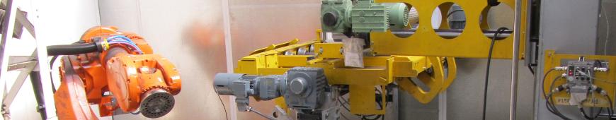 Maschinenbau Gussanlage Roboter