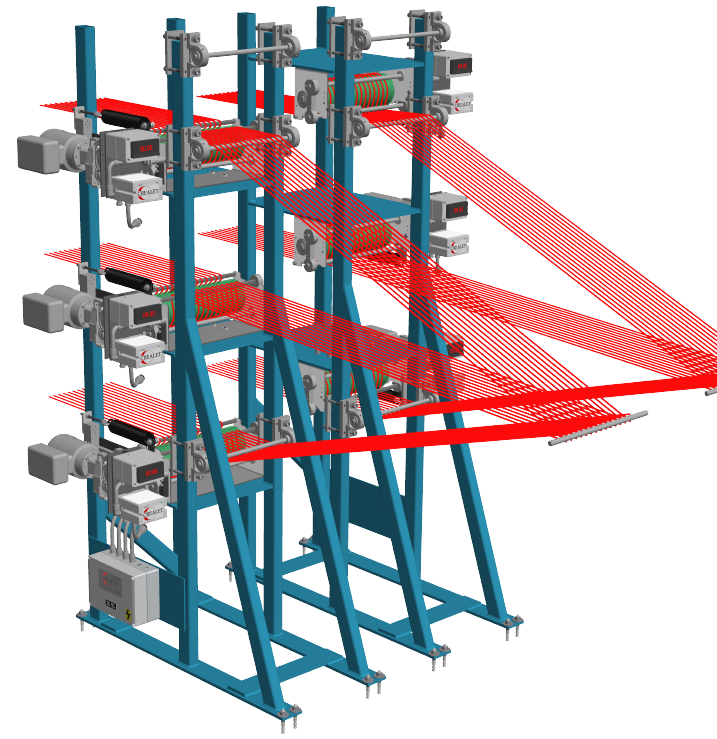 Warp Thread Feed Systems Weaving from Creel