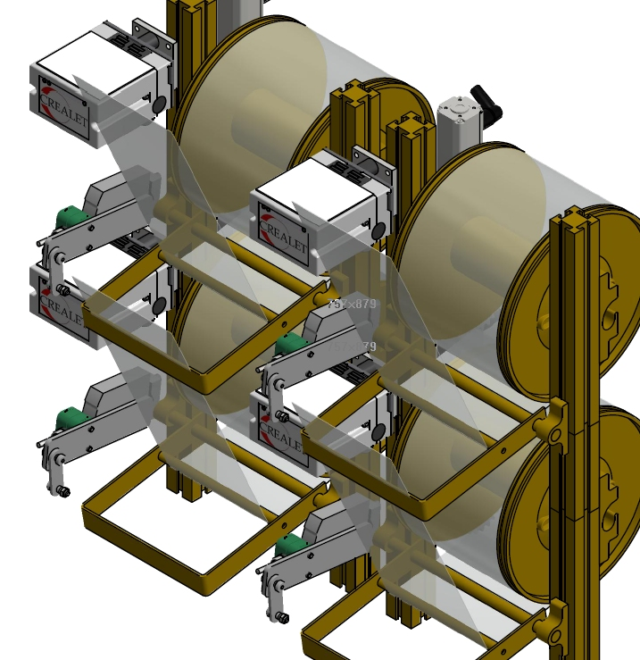 Warp Thread Feed Systems Sectional Warp Beams