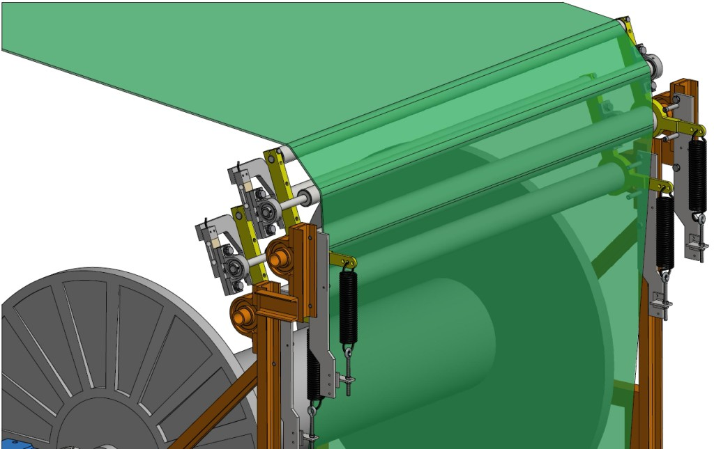 Thread Feed System Roller System