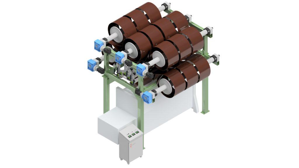 Kettzuführung - Kettbaumgestell für Wirkmaschinen